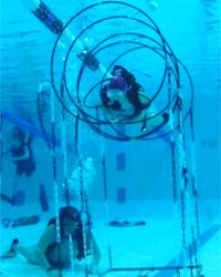 activité plongée sportive en piscine